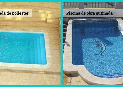 piscinas prefabricadas de poliéster o piscina de obra glutinada